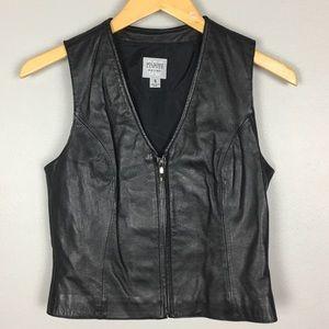 Wilsons Leather Vest Size S EUC